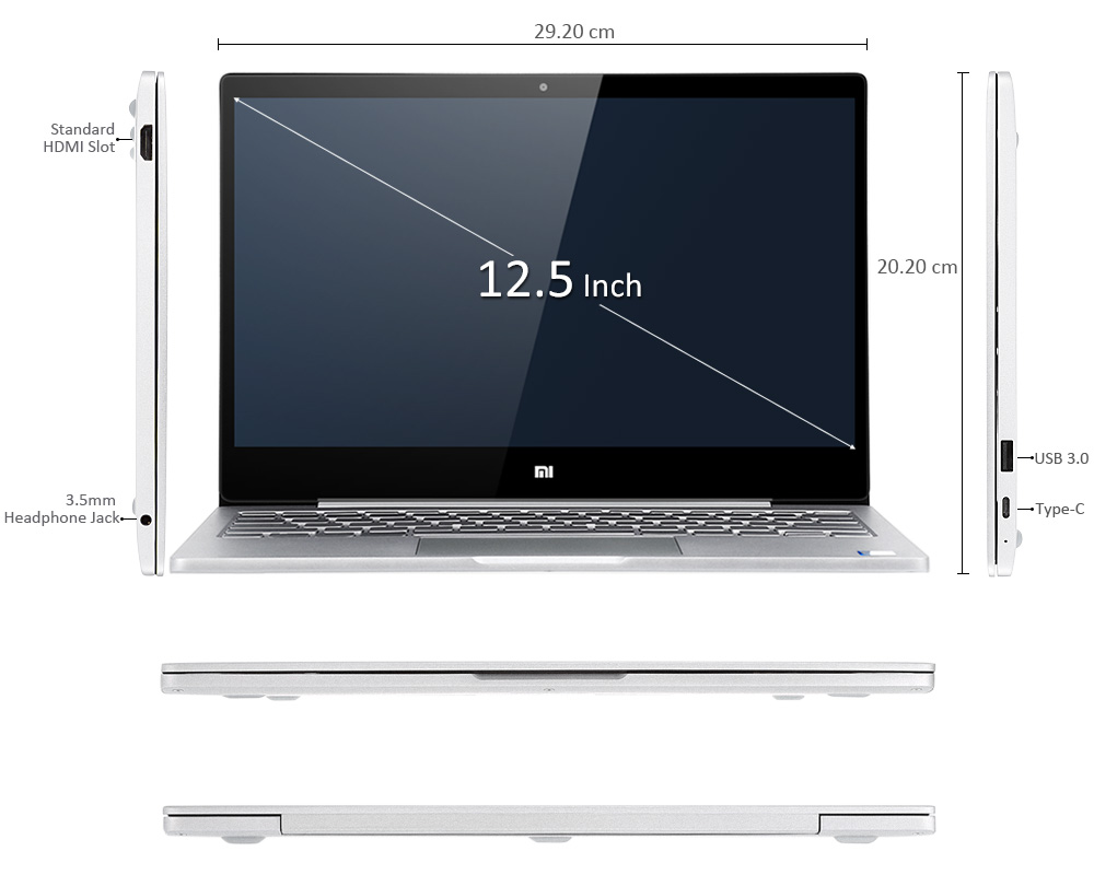 Xiaomi Air 12 Laptop Overview