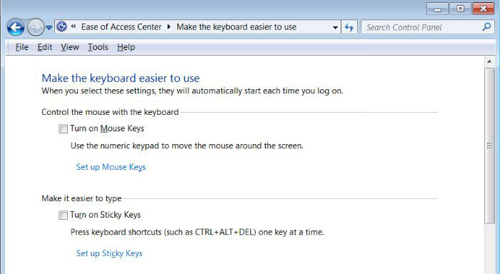 Enable Mouse Control in Windows 7