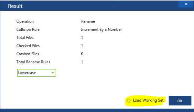 File Renamer in Windows 10 Results