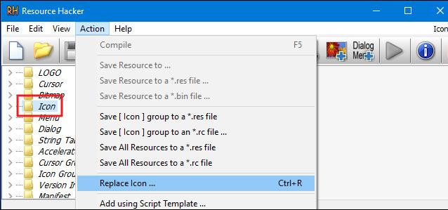 Resource Hacker Icon Changer