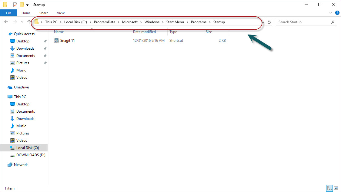 Startup Folder In Windows 10
