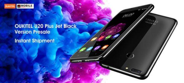 Oukitel U20 Plus Jet Black