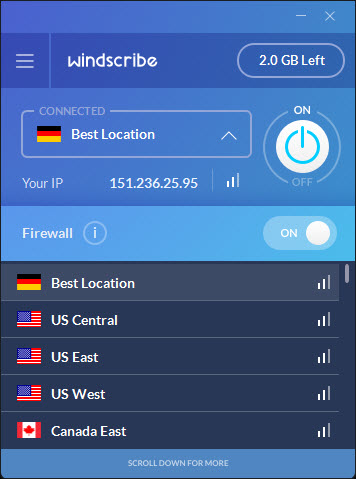Windscribe Server Locations