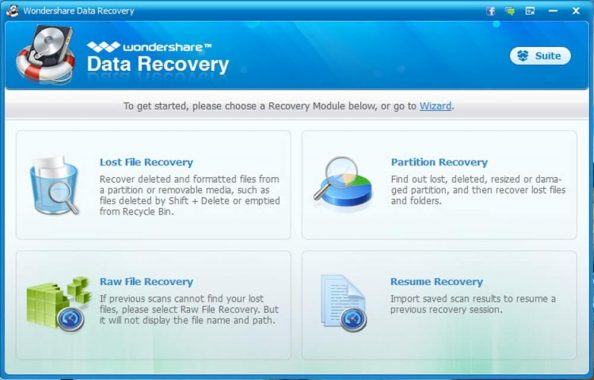 Wondershare Data Recovery - 2 Lost File Recovery