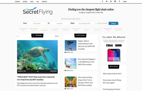 Secret Flying