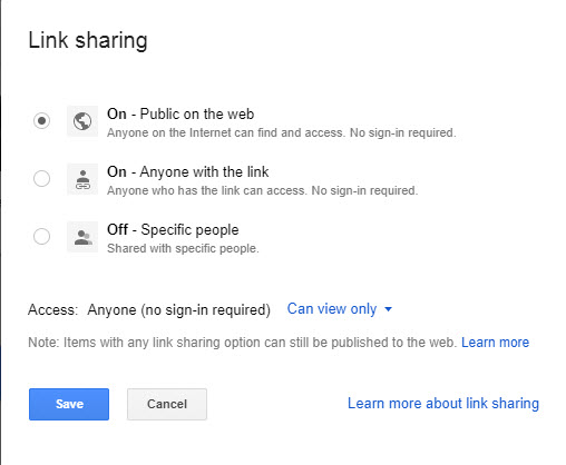 Change the Private under the 'Who has access' section to Public 2