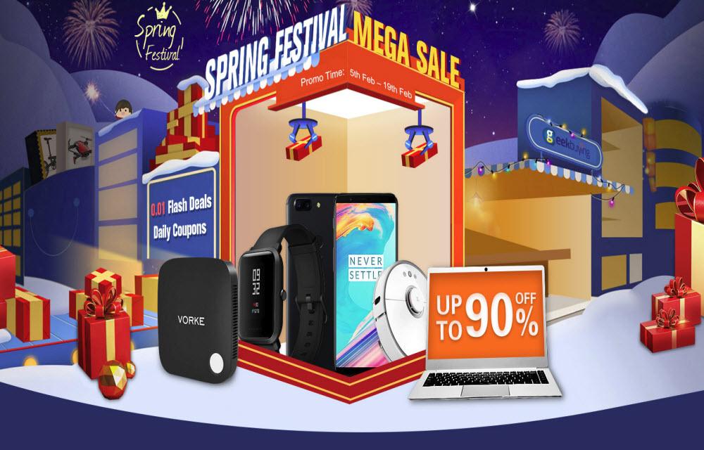 Geekbuying Spring Festival Mega Sale - 5th Feb to 19th Feb