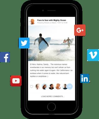 Ning Social Media Sharing