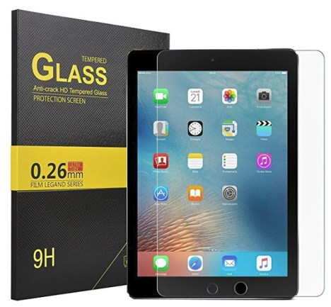 KuGi iPad 9.7 inch Screen protector for 2017 and 2018 models