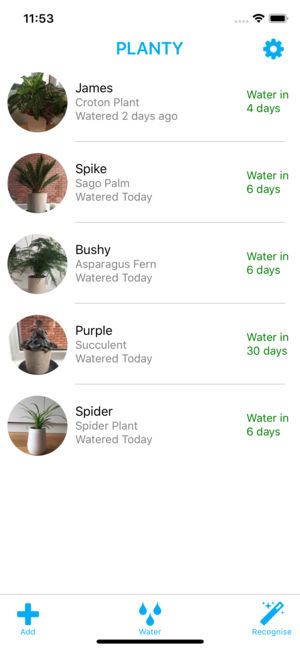 Planty Watering Schedules