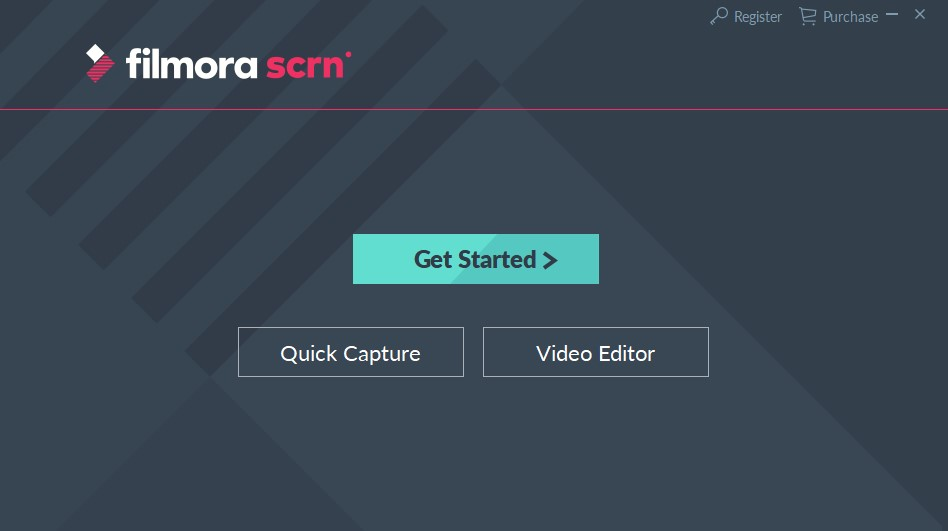 Wondershare Filmora Scrn Interface