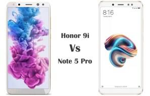 Honor 9i vs Redmi Note 5 Pro Comparison