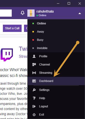 Twitch Dashboard