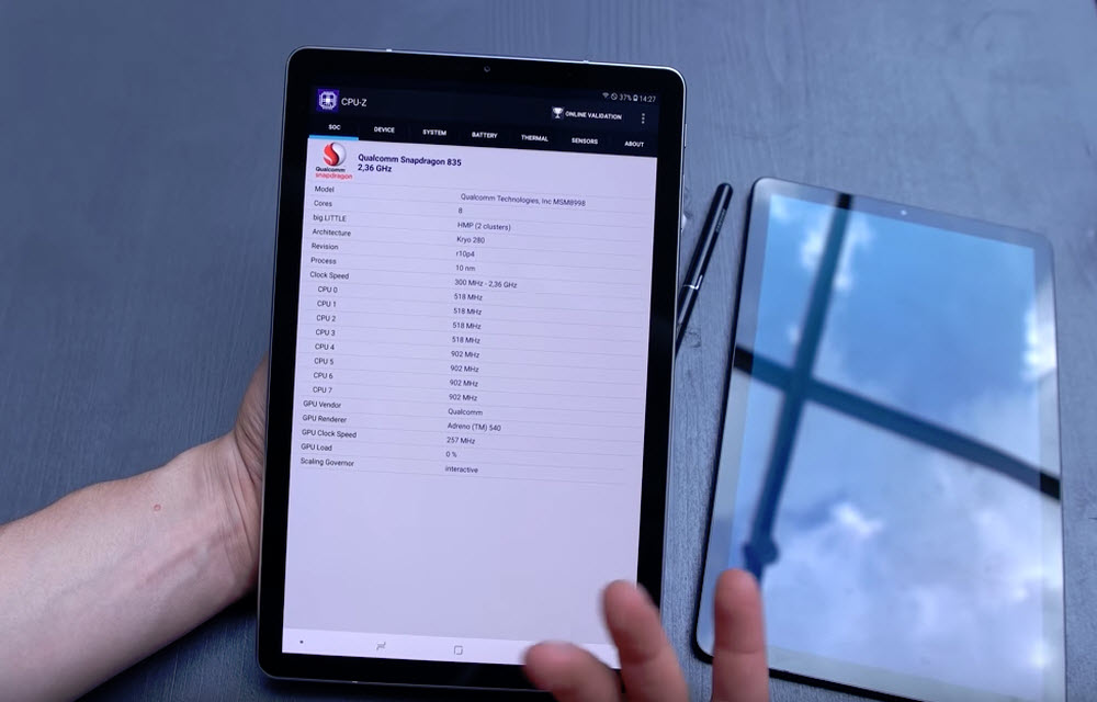 Samsung Galaxy Tab S4 Performance