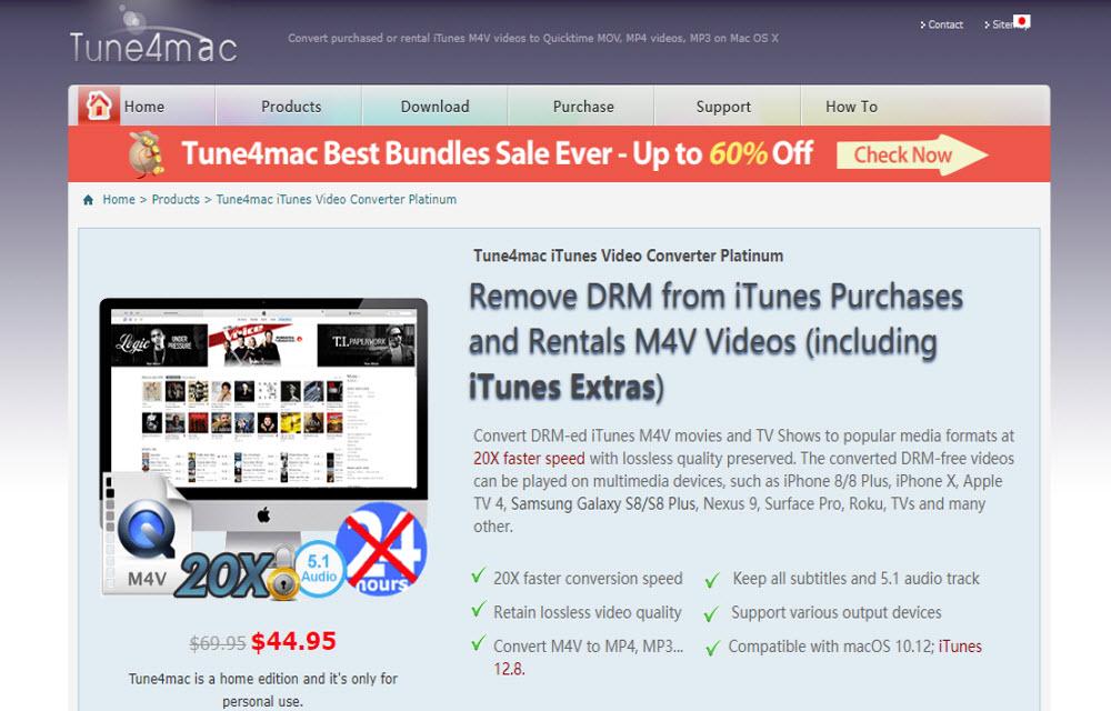 Tune4mac iTunes Video Convert Platinum