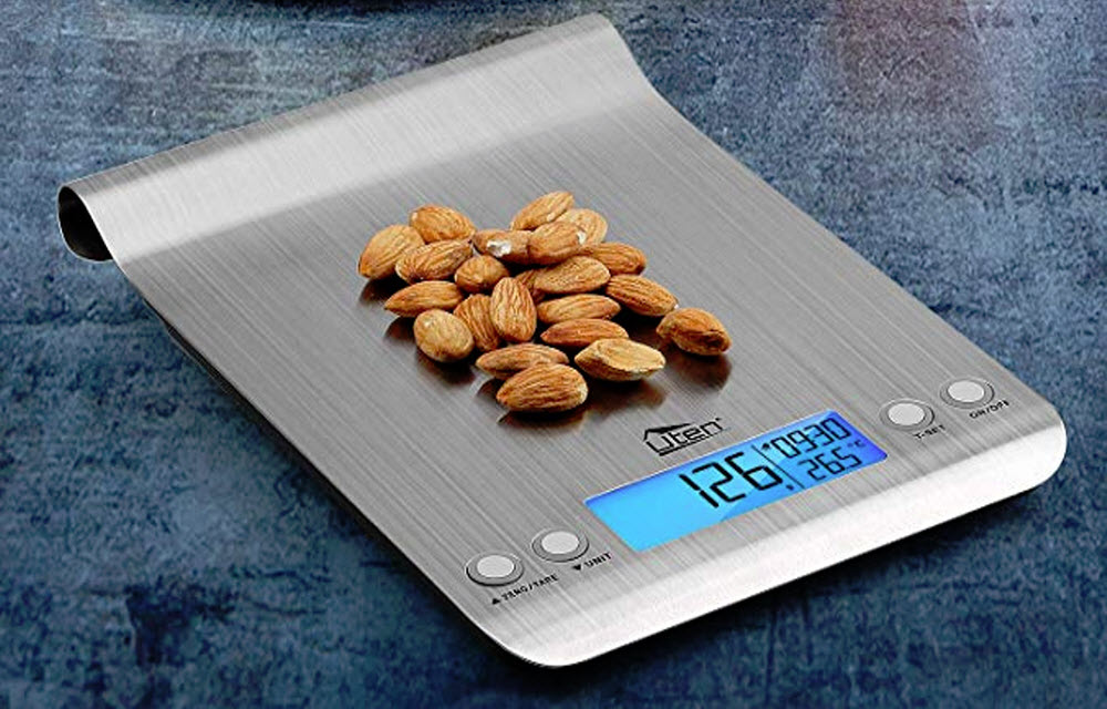 Uten Digital Kitchen Scale With Ultra Slim Malfunction & Stainless Steel Design