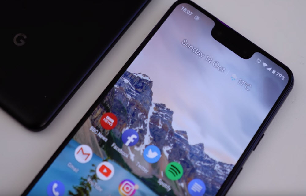 Google Pixel 3 XL Display