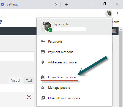 Enabling guest mode on Google Chrome