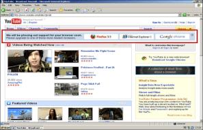 Internet Explorer 6 banner