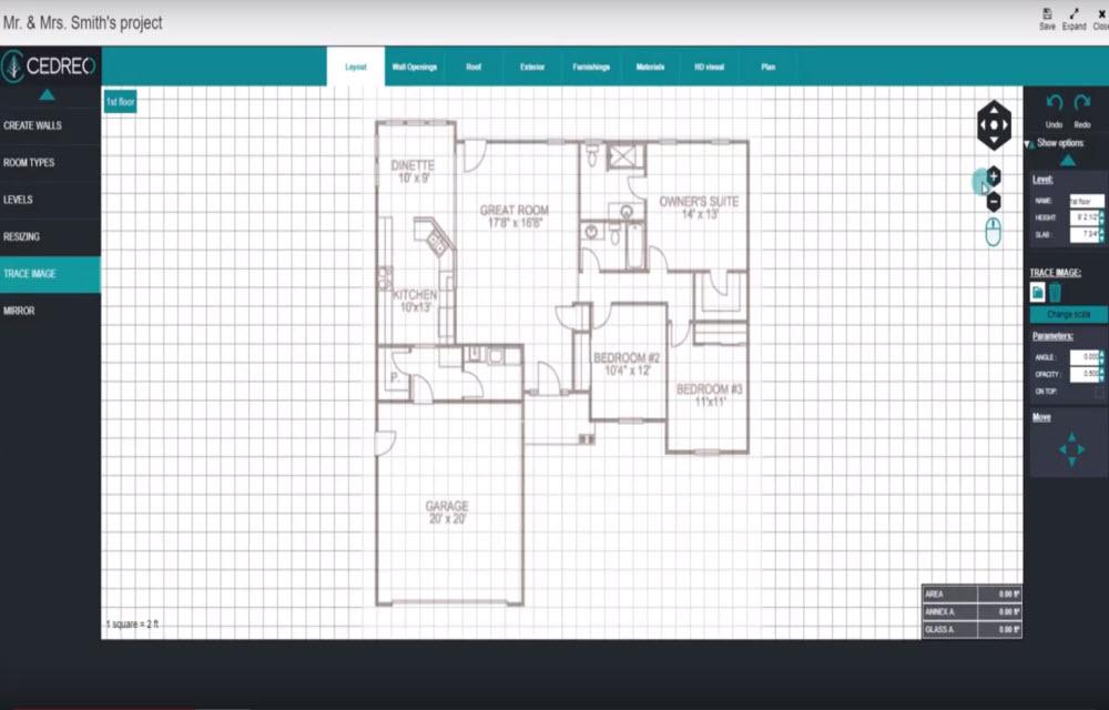 Cedreo project blueprint