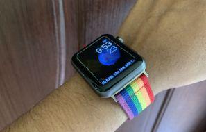 Buy Rainbow Stripe Nylon Woven Band for Apple Watch