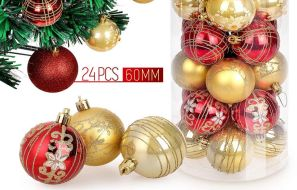 ZOGIN 24 pieces Christmas Balls for tree decoration review