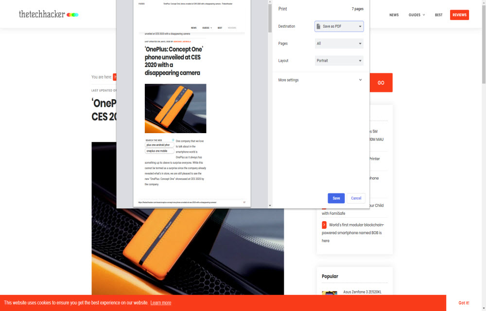 How to print Web Pages in Google Chrome