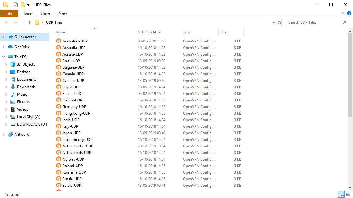 UDP Files