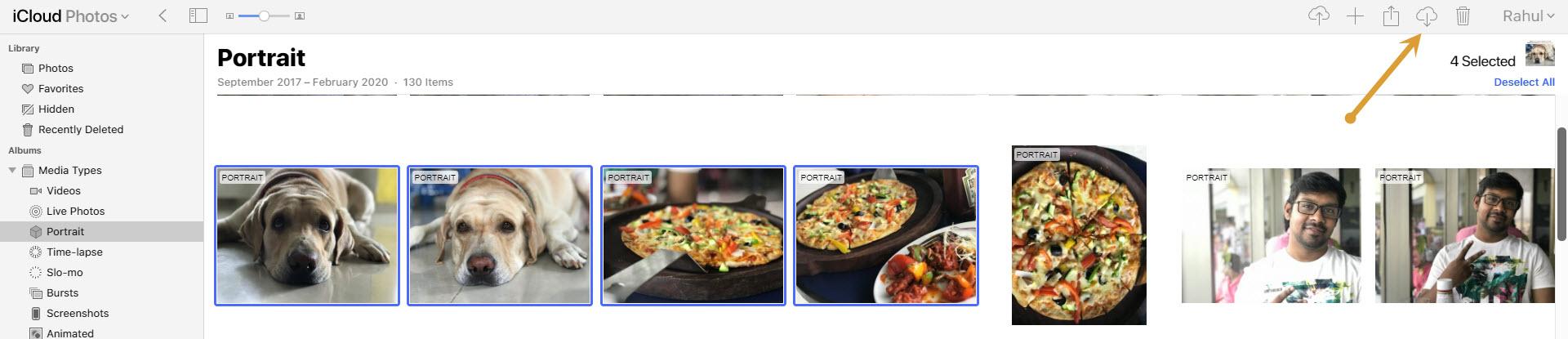 Downloading iCloud photos