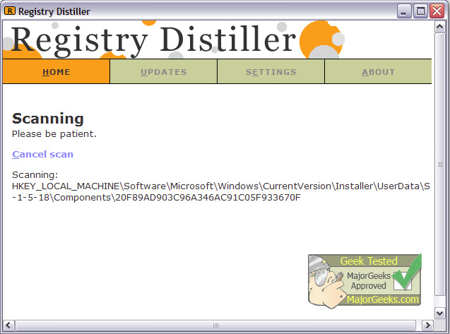 Registry Distiller