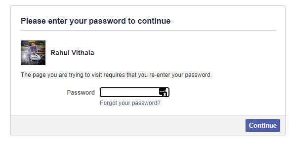 Authorizing Facebook