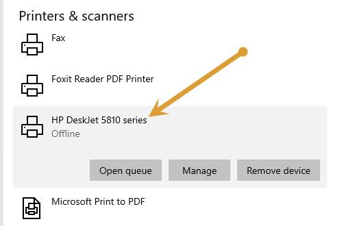 Installed printer on my computer
