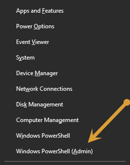 Windows PowerShell as admin