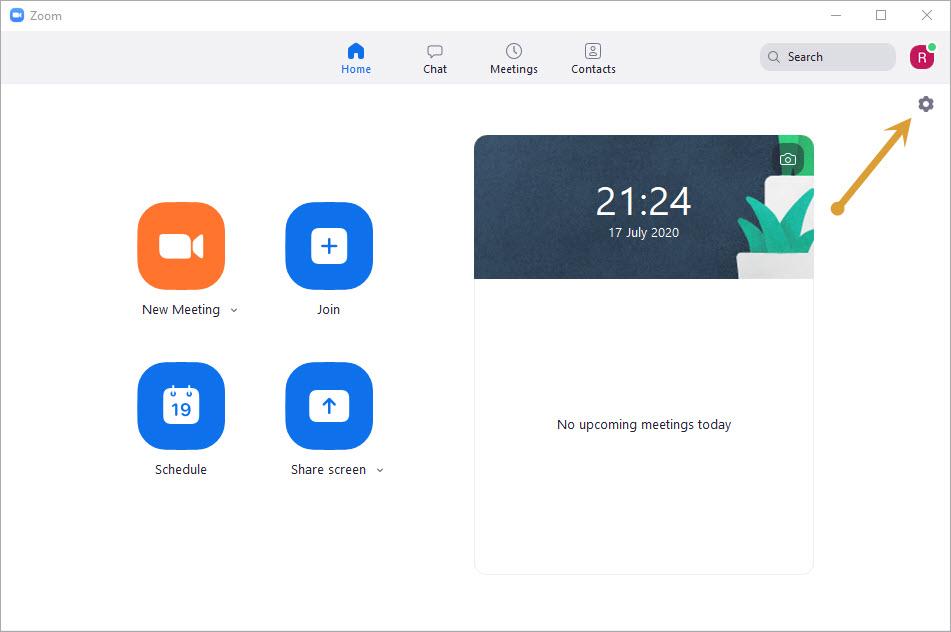 Zoom settings icon