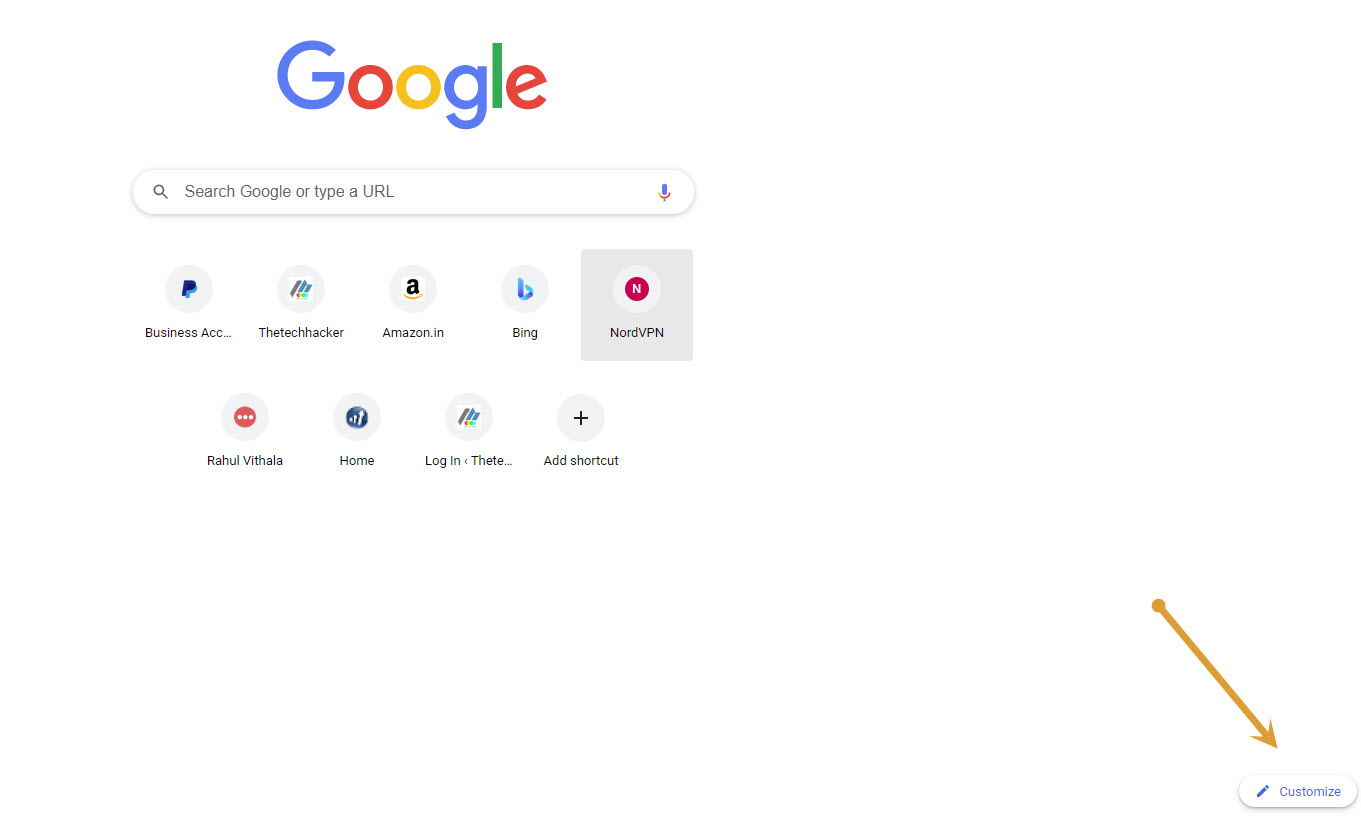 Google Chrome Customize