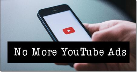 YouTube blocks ads on channels