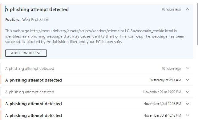 Bitdefender keeping you safe from phishing