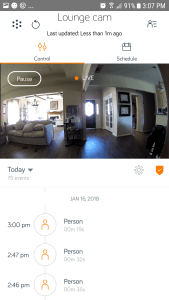 Hive Security Camera Hive App feature #shop #ces2018 #smarthome