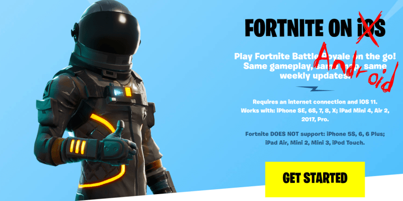 how to get fortnite for android and a list of compatible fortnite android phones - how to get fortnite on android incompatible