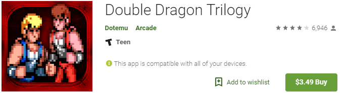 double dragon retro games