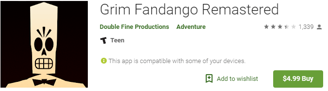 grim fandango retro game