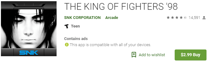 king of fighters retro game