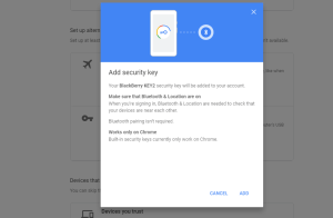 google security key phone