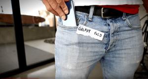 samsung galaxy fold jeans test