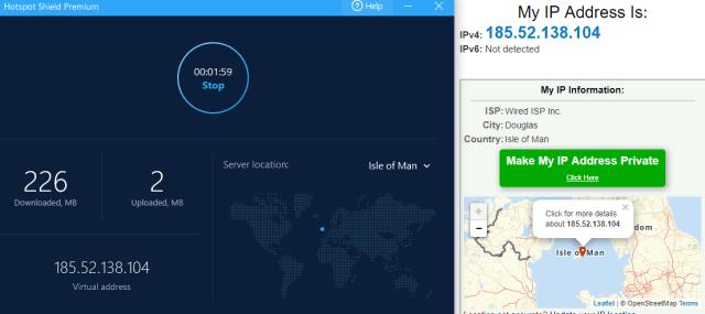 hotspot Shield IP change country 1