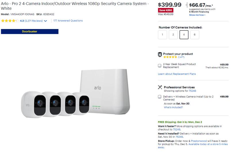 Best Black Friday Cyber Monday Tech deals - arlo security cam