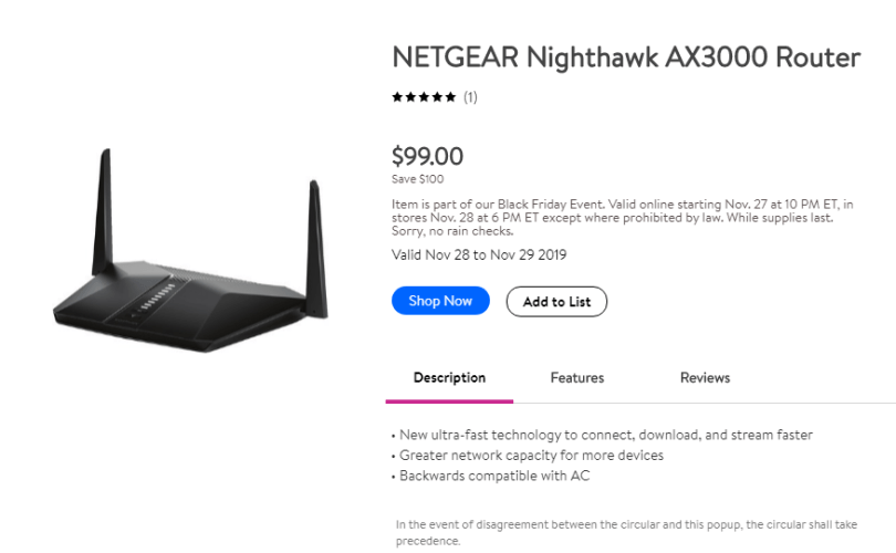 Best Black Friday Cyber Monday Tech deals - netgear router
