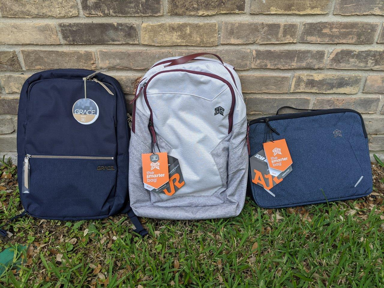Why are these STM laptop bags the best laptop bags for every situation: Myth 28L, Myth Brief, Grace Pack