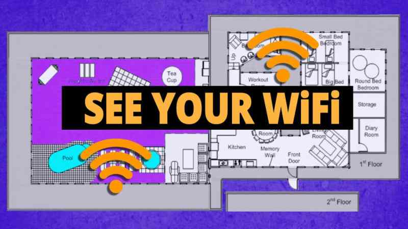 see your home wifi signal