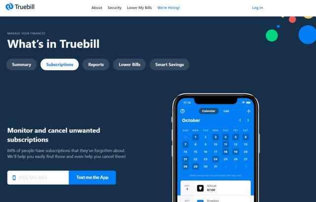 truebill - save money tips